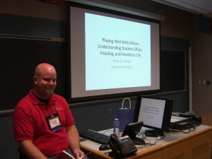 Kevin presenting at the 2009 ResNet Symposium